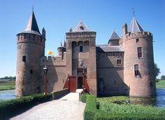 Muiderslot castle located in Muiden Netherlands