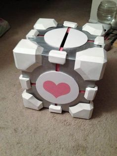 We were inspired by this post on Craftster to make a Companion Cube card box. And then we found the basis for our templates (to which we made some crucial modifications) over here. But we had to ma...