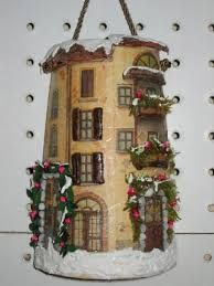 Resultado de imagen para vecchia tegola decorata decoupage 3d