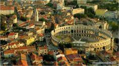 Explore the city of Pula with official tourism portal of Istria which will help you find all precious locations, cultural heritage and rich gastronomical offer. It doesn't matter what you choose to do, great fun is guaranteed to all visitors of Pula. Pula, Istria Croatia, Visit Croatia, Croatia Travel, Travel Europe, Travel Destinations, Ultimate Travel, Montenegro, World Heritage Sites