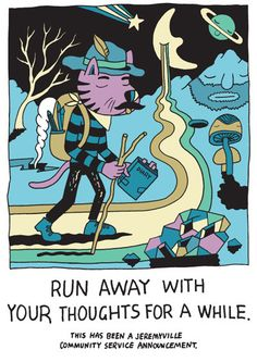 Jeremyville Corner Store — Run Away With Your Thoughts For A While