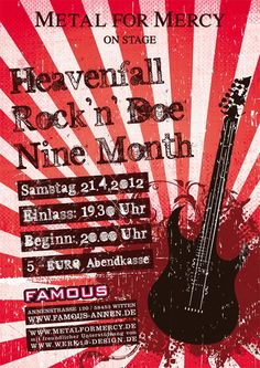 Poster for a rock music event.