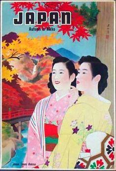 Japan | Vintage travel poster #Travel #Posters #Vintage #Affiches #Carteles #Viajes #Exotic #Japan #Asia