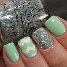 OPI- Which Is Witch? & Gargantuan Green Grape, Chinaglaze- Glistening Snow and Sally Hansen- White On use seche vite topcoat- for the chevron used scotch tape cut with craft scissors