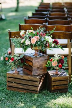 How To Use Wooden Crates Wedding Ideas At Rustic Weddings ❤ See more: www.wedd… How To Use Wooden Crates Wedding Ideas At Rustic Weddings ❤ See more: www. Wedding Aisles, Wedding Aisle Decorations, Fall Wedding, Rustic Centerpiece Wedding, Outdoor Wedding Isle, Wedding Reception, Romantic Diy Wedding Decor, Dream Wedding, Outdoor Wedding Ceremonies