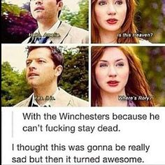 I would love to see a show where Rory is hunting with Sam and Dean.