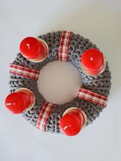 advent, basteln, häkeln, adventskranz, anhänger, deko, idee, selbermachen, weihnachten, DIY