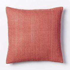 Crewel Modern Stripes Pillow Cover - Rose Bisque | West Elm