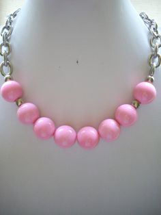 Chunky Soft Pink Vintage Acrylic Bead by DesignsbyPattiLynn, $50.00