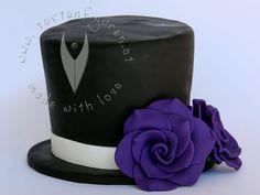 Zylinder für die Hochzeitstorte von www.tortenfiguren.at - Wedding Cake Topper
