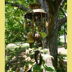 LOVE LOVE LOVE this recycled windchime