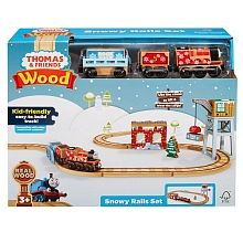 Fisher-Price Thomas & Friends Wood Snowy Rails Set - English Edition Toy R, Tracking System, Thomas And Friends, Train Set, Home Free, Fisher Price, Real Wood, Kids, Children