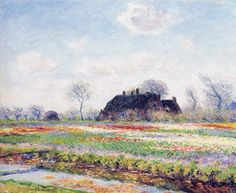 Claude Monet (1840-1926), Tulip fields at Sassenheim, near Leiden (1886); oil on canvas.