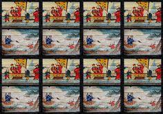 Derick Burke Art: Re purposed Chines painted panel art.......