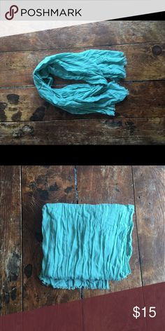 Teal Light Scarf Light teal scarf Accessories Scarves & Wraps