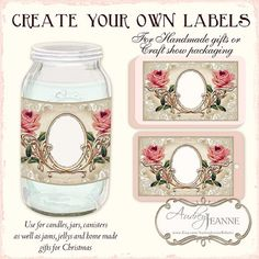 Are you  crafter?  Making homemade gifts for #Christmas or a DIY #Wedding, if so, these digital kits allow you to print your own elegant labels to use on #Mason jars, favors, gift tags and more.