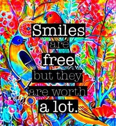 Love this! Smile and make someone's day...and then they will make someone else's day who will make.  Smile and you will create ripples of POSITIVITY!