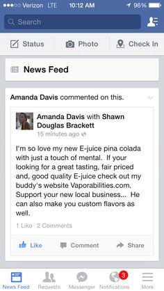 Amanda loves her E Liquid! #vape #vapecommunity #vaping #eliquid #ejuice #ecigarettes #vapor #ecigs #everythingvape