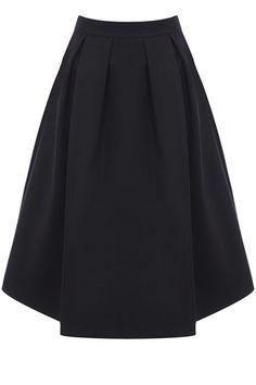 black satin full skirt | Oasis