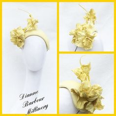 Leather Headpiece - Dianne Barbour #millinery #hatacademy