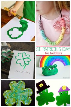 Fun St. Patrick's Day crafts for toddlers!