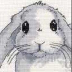 Cross-stitch Cute Bunny Face, part 1... Solo Patrones Punto Cruz (pág. 1229) | Aprender manualidades es facilisimo.com