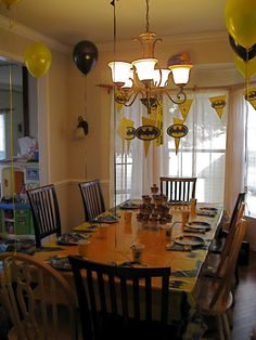 batman party kind of looks like my dinning room