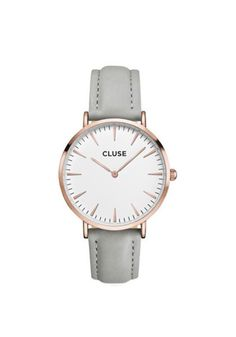 Cluse Watch. Grey, white background, rose gold. Online