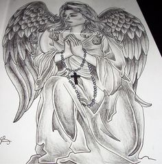 Wonderful Praying Angel Tattoo