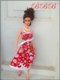 Christmas Barbie Clothes Red Holiday by BarbieBoutiqueBasics