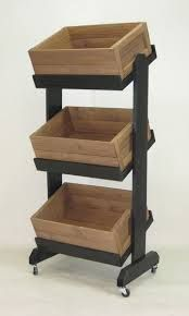 Image result for three tier wood vegetable stand