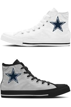 0ef5a3efaf9 Dallas Cowboys High Top Sneakers Calling all Dallas Cowboy fans! Show your  team pride with