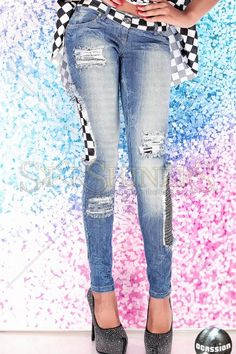 Jeans Ocassion Square Blue