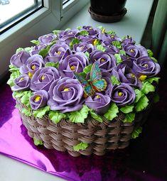 Cake Icing, Buttercream Cake, Fondant Cakes, Eat Cake, Cupcake Cakes, Basket Weave Cake, Flower Basket Cake, Gorgeous Cakes, Pretty Cakes