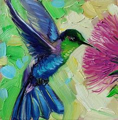 ORIGINAL PAINTING in FRAME.READY to SHIP.READY to HANG.A Hummingbird is an original miniature artwork in a frame. It is signed in the backside and lower hand corner.The impressionist Colibri bird on the wing in flight painting from the contemporary animal collection 2021.✅ TITLE: Thank you for all the special sings you do✅ MEDIUM: Oil on hard thick panel✅ SIZE: 10 x 10 cm / 4 x 4 in✅ YEAR: 2021Hummingbird art painting 4x4 in blue frame, Bird painting original green framed wall art, Mothers… Hummingbird Art, Mothers Day Gifts From Daughter, Impressionist, Framed Wall Art, 4x4, Original Paintings, Wings, Size 10, Corner