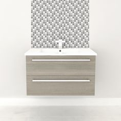 Cutler Kitchen & Bath Silhouette Collection 30-in Wall Hung Vanity with Top - FV MCHOC30