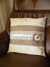 Resultado de imagen para como hacer almohadon de arpillera