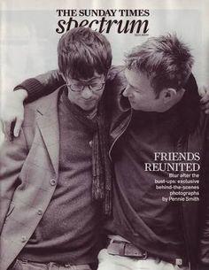 Graham Coxon and Damon Albarn Blur Band, Friends Reunited, Graham Coxon, Buckingham Nicks, Damon Albarn, British People, Britpop, Arctic Monkeys, Gorillaz