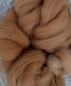 Medium Fawn Alpaca Rovings - Joy, $16.00