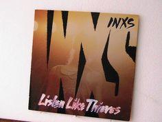 "Vintage INXS LP  ""Listen like Thieves"" by KackleberryFarm on Etsy"