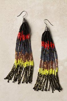 Striated Tassel Earrings by Anthroplogie. I think they would be fun to make. #jewelry #fashion