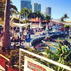 Bayside in Downtown Miami is among the most beautiful places to shop in the US. (I loved my back yard from the awesome Coconut Grove, Miami area)