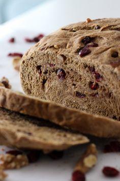 Whole Wheat Cranberry Walnut Bread