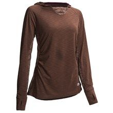 Club Ride Sprint Hoodie Shirt - Long Sleeve (For Women) in Clove - Closeouts