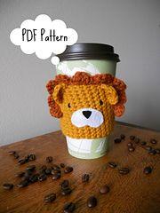 Ravelry: Lionheart Coffee/Tea Cup Cozy FREE pattern by Sarah Mancini