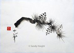 pine-bough-original-sumi-painting-art
