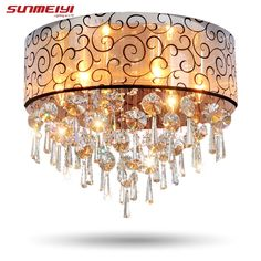 73.93$  Watch here - http://ali96z.worldwells.pw/go.php?t=1859222509 - Modern Crystal Ceiling Lights For Living Room luminarias para sala plafon led Crystal Ceiling Lamp Fixtures For Bedroom 73.93$