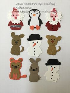 Punch Art, 1st Birthday Cards, Make A Snowman, Penguin Party, New Baby Cards, Stampin Up Christmas, Animal Cards, Stamping Up, Stampin Up Cards