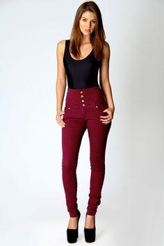 Penny High Waisted Jeans at boohoo.com