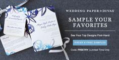 FREE 8 Stationery Samples + Wedding Website from Wedding Paper Divas